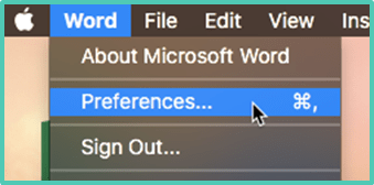 Word Preferences for Autocorrect Mac