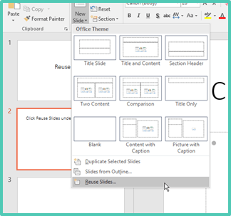 reuse PowerPoint Slides