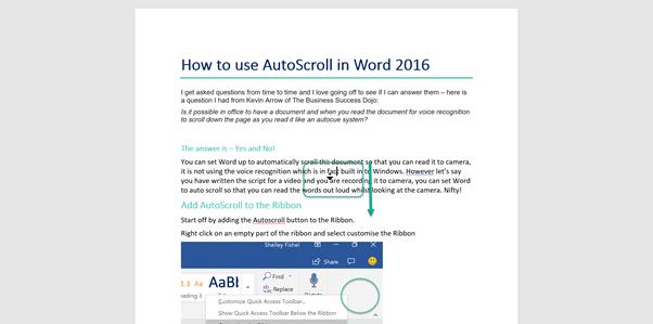 Auto Scroll like and Autocue
