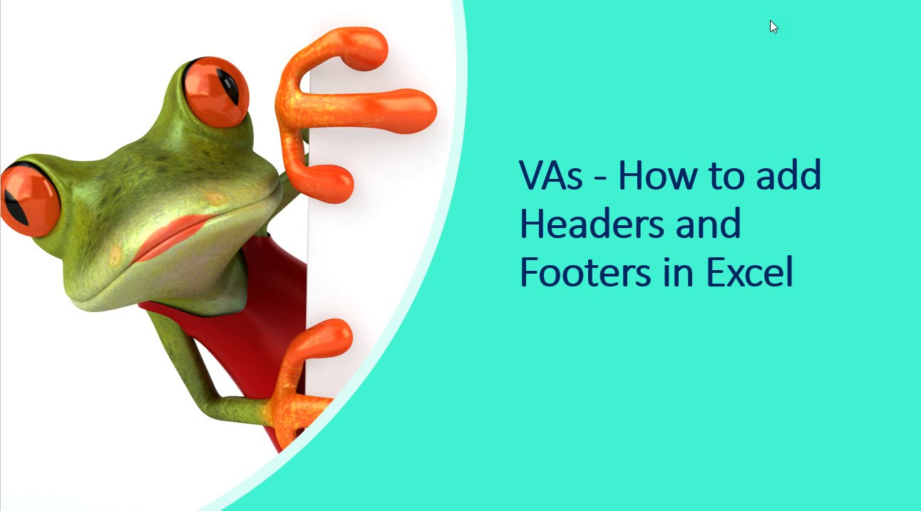 headers and Footers in Excel