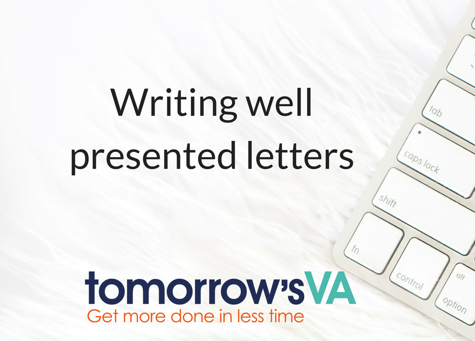Writing well presented letters