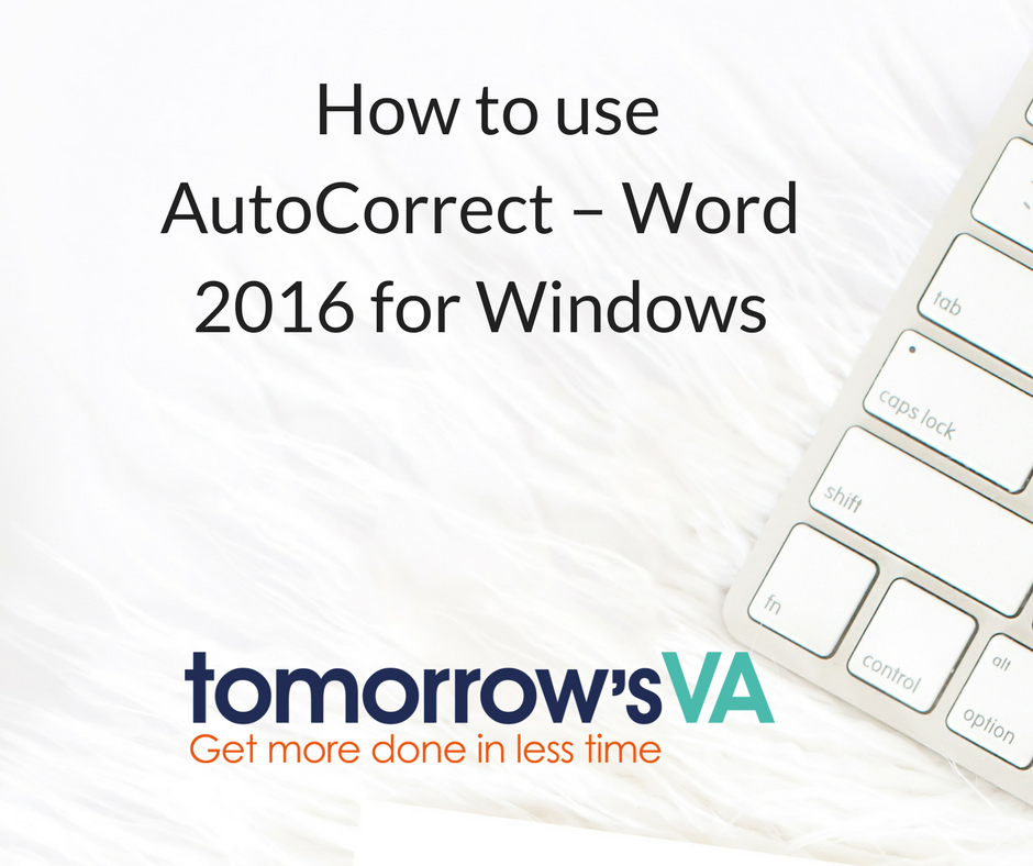 autocorrect Windows