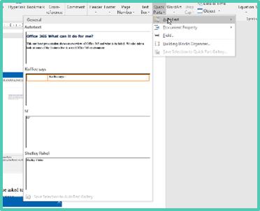 Autotext Word 2016 Windows