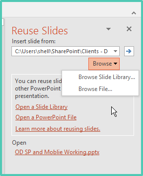 reuse PowerPoint Slides