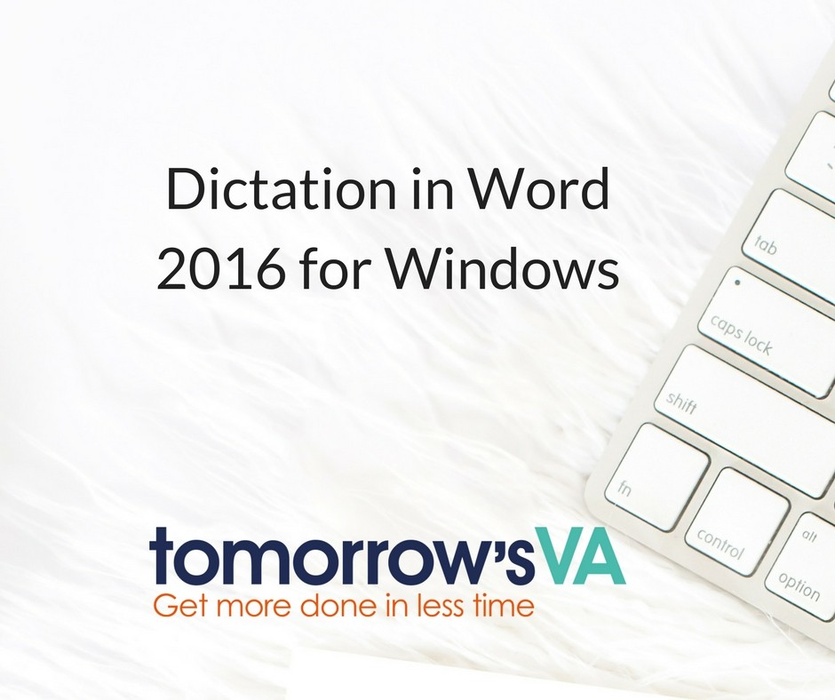 Dictation in Word 2016