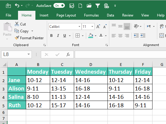 Autofill in Excel