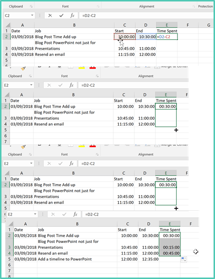 VAs – Making Time Add Up in Excel