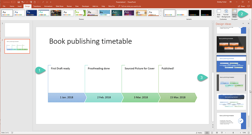 VAs – How to Create a Visual Timeline in PowerPoint