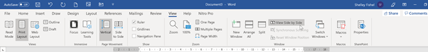 VAs -  Tired of switching between documents? Show them Side by Side