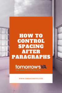 How to control spacing after paragraphs