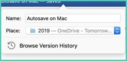 Autosave Mac