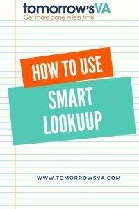 Smart Lookup in Word