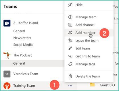Microsoft Teams - Add members