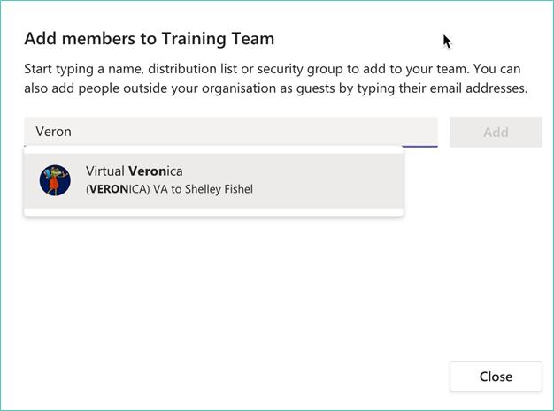 Microsoft Teams - Add team members
