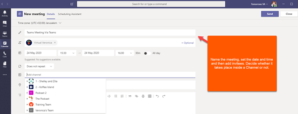 Microsoft Teams – so you want to hold a meeting, do you?