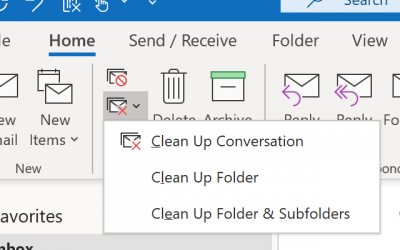 Want to clean up  conversations that clog up your Inbox? Try this