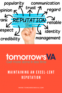 Maintaining an Excel-lent Reputation