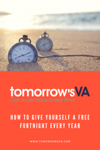 How to Give Yourself a Free Fortnight Every Year