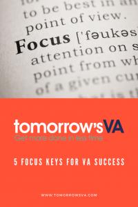 5 Focus Keys for VA Success